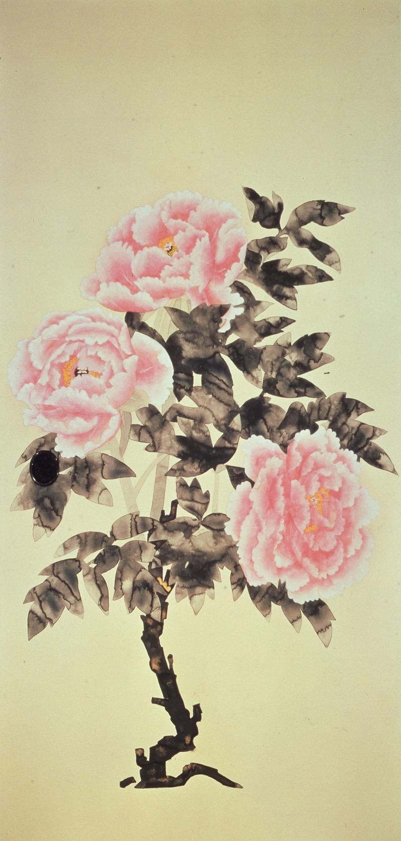 牡丹図 (三溪園臨春閣襖絵)の画像