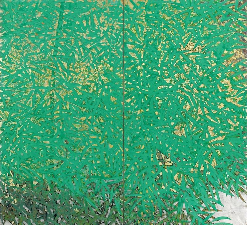 緑扇の画像