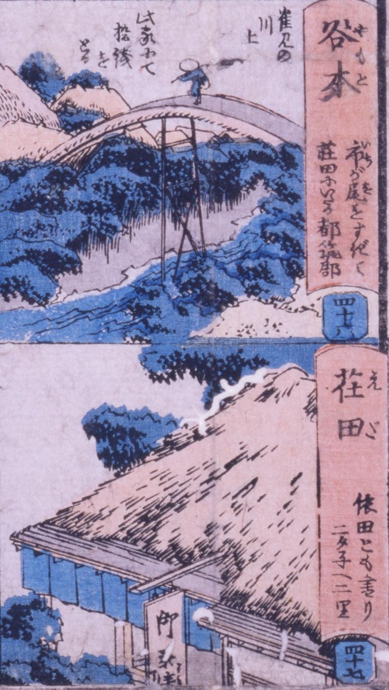 鎌倉・江ノ嶋大山新板往来双六 谷本・荏田