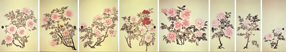 牡丹図 (三溪園臨春閣襖絵) 中島清之