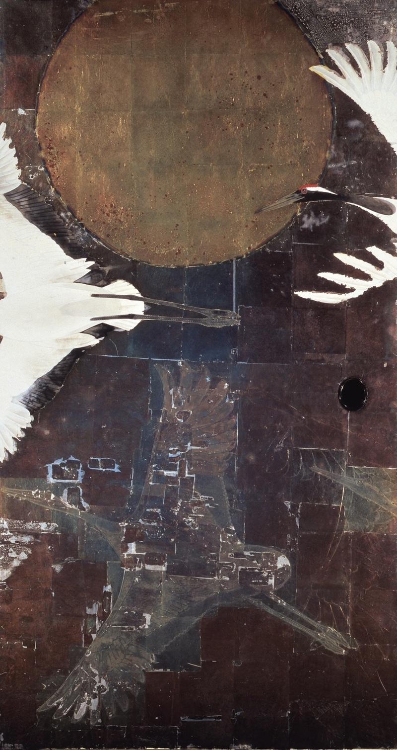 鶴図 (三溪園臨春閣襖絵)の画像