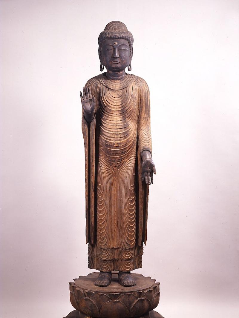 木造釈迦如来立像 〈彫刻 国指定重要文化財 昭和8年1月25日指定〉の画像