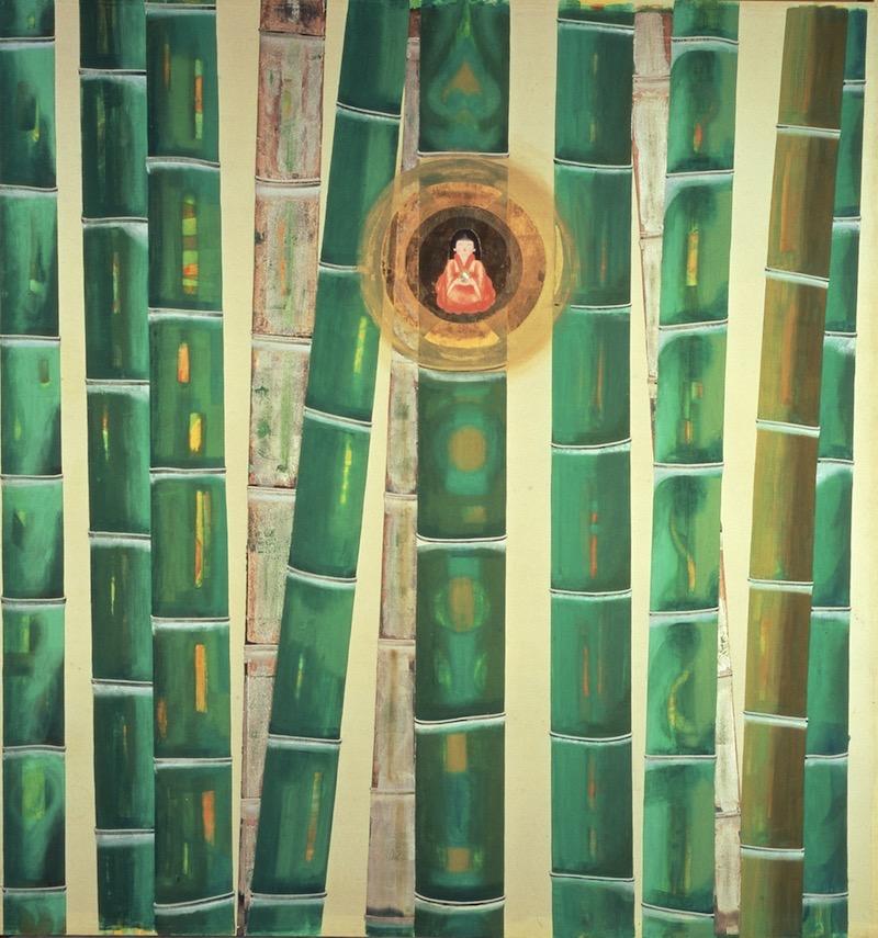 竹図 (三溪園臨春閣襖絵)の画像