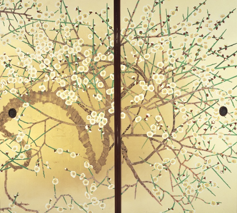 梅図 (三溪園臨春閣襖絵)の画像